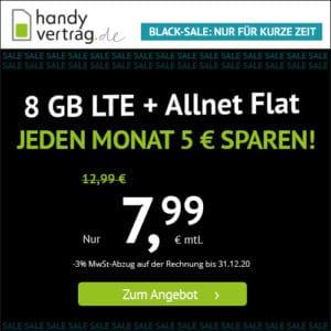 🎉 o2 8GB LTE + Allnet-Flat für 7,99€ (mtl. kündbar!) // 2GB für 3,99€