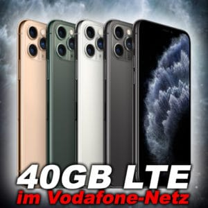 🍏 Apple iPhone 11 Pro + 40GB (!) LTE Allnet (Vodafone) für 39,99€ mtl.