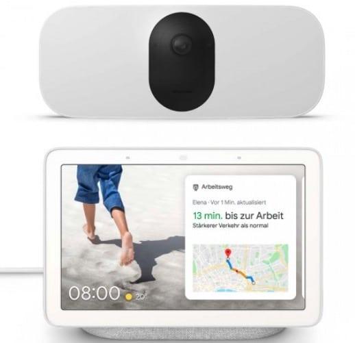 Arlo Pro 3 Floodlight Cam WIRELESS plus Google Nest Hub