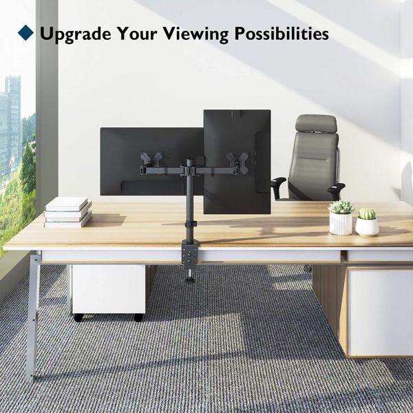 NEIGE-, SCHWENK- und DREHBEREICH- Mit +90°/-90° Neigung nach oben und unten, 360° schwenkbar und 360° drehbar für höchste Flexibilität; Maximale Armauszugslänge von 460 mm, höhenverstellbar bis 430 mm für optimalen Blickwinkel; Unsere Monitor Halterung ist perfekt für Multitasker, Designer, Programmierer und Gamer gleichermaßen.