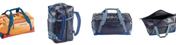 Die Eagle Creek Migrate Reisetasche ist auf eine Größe von 26 cm x 72 cm x 24 cm erweiterbar. Das Volumen steigt dabei von 39 Liter auf 44 Liter.