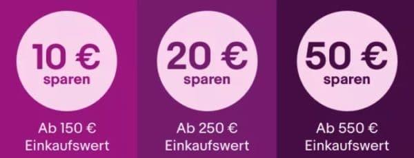 Ebay bis zu 50 Euro Rabatt auf Apple