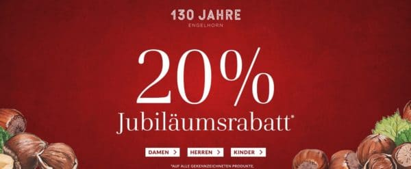 Engelhorn mit 20 Prozent Rabatt