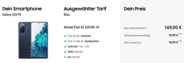 Galaxy S20 FE Allnet Flat XL 2018 5