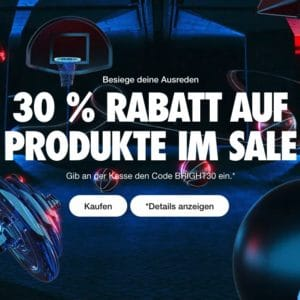 🎉 30% auf den Sale bei NIKE + keine Versandkosten 👟💥 Sneaker, Sweater & mehr!