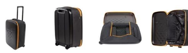 Das perfekte Handgepäck: 40 l Packvolumen bei nur 2,2 kg Gewicht und den Maßen 55x40x20 cm. Der minimalistische FLEX 21 von Rollink lässt sich nach getaner Arbeit auf nur 5 cm zusammenfalten und bequem im Schrank oder in einem größeren Koffer verstauen. Ein treuer Begleiter, der das Reiseerlebnis radikal optimieren wird! Rollink - travel smart!