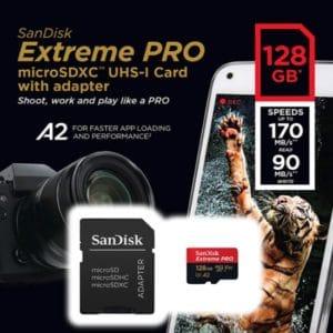 Sandisk Extreme Pro MicroSD 128 GB