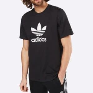 adidas Originals T Shirt mit Trefoil in Schwarz