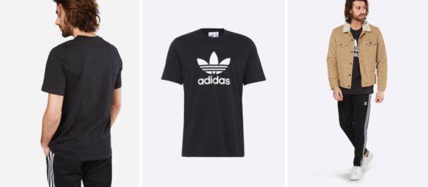 adidas Originals T-Shirt mit Trefoil schwarz