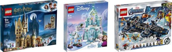 76153 - Helicarrier Lego 43172 - Elsas magischer Eispalast Lego Harry Potter - 75969 - Astronomieturm auf Schloss Hogwarts