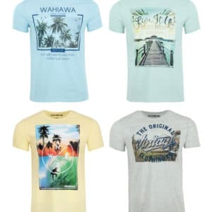 riverso Herren Rundhals T-Shirt