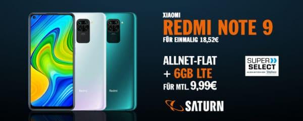 TOP Nur 9,99€ mtl. 📱 Xiaomi Redmi Note 9 + o2 Allnet ...