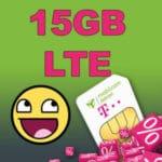 📡 Telekom-Netz: 15GB LTE Daten-Flat für 9,99€ mtl.