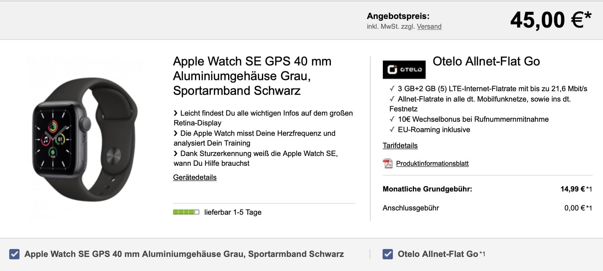 Apple Watch SE Otelo