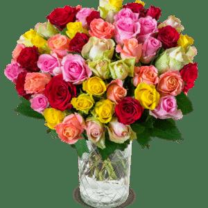 Blumeideal 41 bunte Rosen