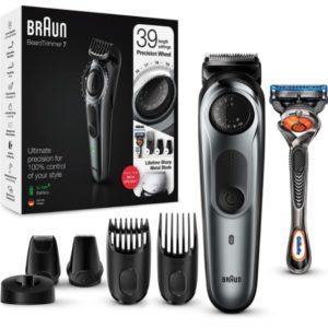 Braun BT7240 Barttrimmer Haarschneider mit Gillette Fusion5 Rasierer