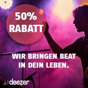50% RABATT 🤩🎶 Deezer Premium mit über 56 Mio. Songs dank 60€ Amazon-Gutschein
