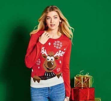 ESMARA® Weihnachtspullover Damen