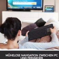 Logitech K400 Plus Wireless Multimedia Tastatur