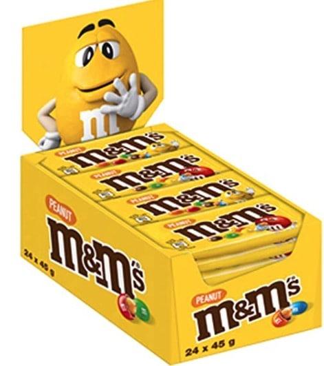 M&M'S Peanut Schokolinsen mit Erdnusskern 24 Packungen