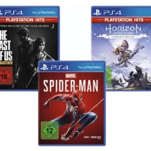 PlayStation Bundle (The Last of Us: Remastered, Marvel's Spider-Man, Horizon Zero Dawn Complete Edition) Nur Online