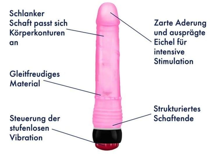 Stufenloser Vibrator 22 cm