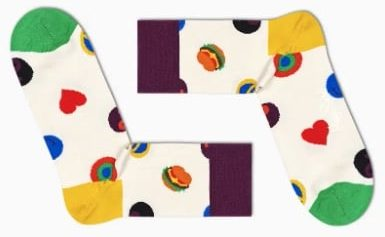 Symbol Dot 1/2 Crew Sock bei Happy Socks
