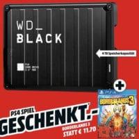 Western Digital Black P10 Game Drive 4TB Borderlands 3 PS4