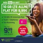 [Bis 18 Uhr] 🔥 TELEKOM 10GB LTE Allnet-Flat für 9,99€ mtl.
