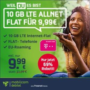 🔥 Telekom 10GB LTE Allnet-Flat für 9,99€ mtl.