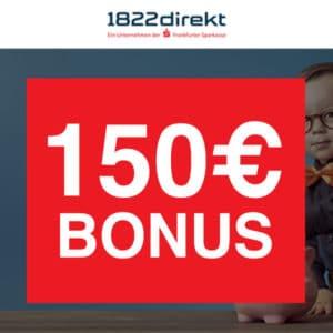 150€ Bonus für Sparplan mit dem 1822direkt Depot (keine Schufa) 💵📈