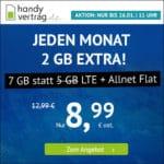 o2 LTE Allnet-Flats, z.B. 7GB für 8,99€ 🤩 & mehr (Drillisch)