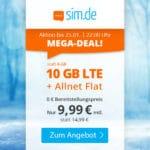 😲💥Flexible o2 10GB LTE Allnet Flat für 9,99€