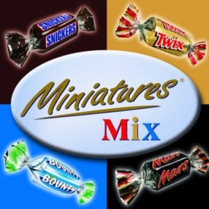 3kg Celebrations Box mit Mini Mars, Bounty, Snickers & Twix