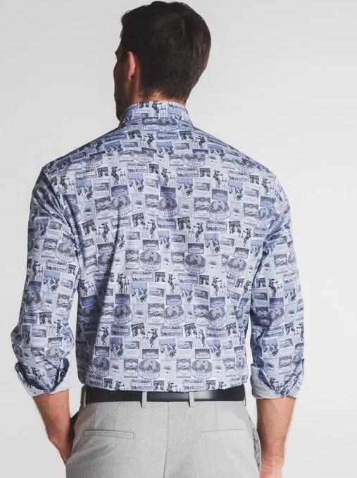 Eterna bedrucktes Comfort Fit Hemd