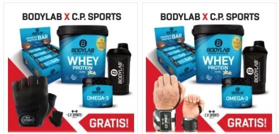 Bodylab Bundle mit Proteinpulver, Riegeln, Omega 3, Shaker Handschuhen