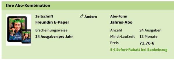 Freundin E-Paper Jahresabo
