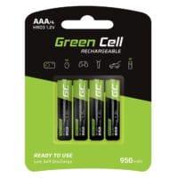 Green Cell 950mAh 1.2V 4 Stck Vorgeladene NI-MH AAA-Akkus