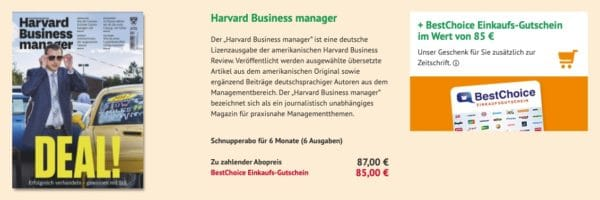 Halbjahresabo Harvard Business manager