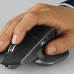 Logitech MX Master 2S Bluetooth Maus mit 2 Scrollrädern