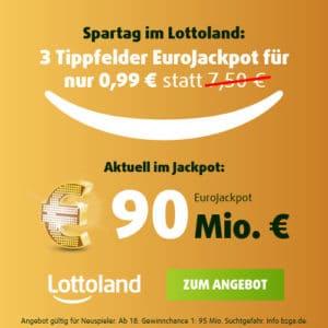 90 Mio. € Maximal-Jackpot! 🍀 3x Eurojackpot 0,99€ (für Neukunden)