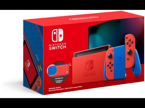 NINTENDO Switch Mario Red & Blue Edition (Limitiert) inklusive Tasche im Mario-Rot und -Blau