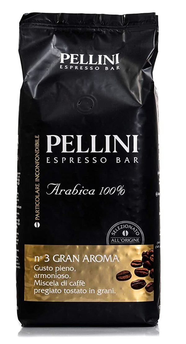 Mischung aus 100% Arabica-Kaffee, die nach Herkunft ausgewählt wurden, um ein Produkt reich an Aromen herzustellen. Das sorgfältige Produktionsverfahren Pellini: langsame Röstung, variierend je nach Bohnenvarietät für eine edle Vielfalt an Aromen vollmundigen Geschmackes. Kräftige Röstung für einen runden und vollmündigen Geschmack Noten von Schokolade und Honig 1 kg Packung Bohnenkaffee