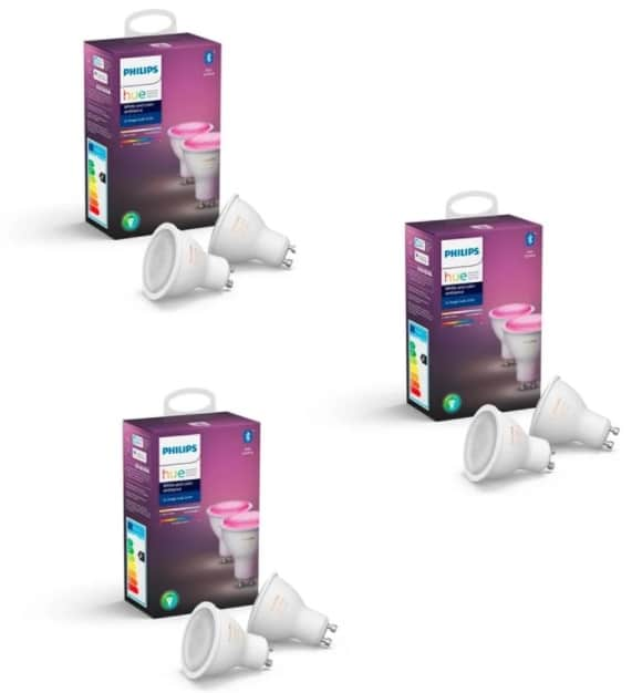 Philips Hue GU10 White & Color Ambiance Bluetooth 6er Pack