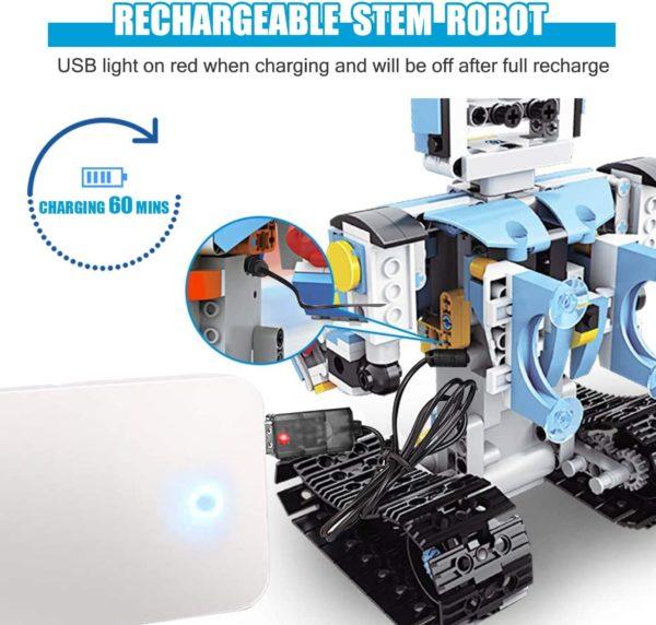 STEM Roboter Spielzeug Bausatz 351 tlg Bausatz fuer Ferngesteuerte Bildungsroboter fuer Kinder ab 8 Jahren akku