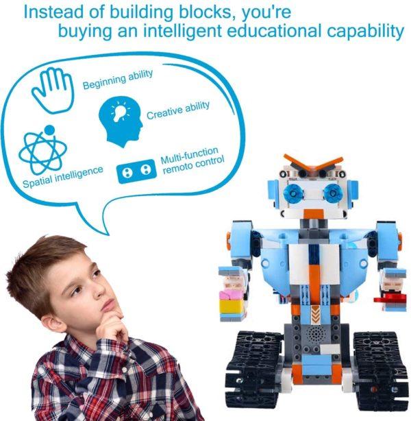 STEM Roboter Spielzeug Bausatz 351 tlg Bausatz fuer Ferngesteuerte Bildungsroboter fuer Kinder ab 8 Jahren ambient