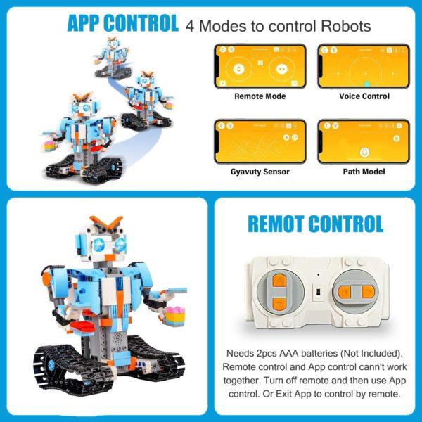 STEM Roboter Spielzeug Bausatz 351 tlg Bausatz fuer Ferngesteuerte Bildungsroboter fuer Kinder ab 8 Jahren app