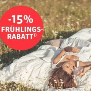 Schlafwelt 15 Prozent Rabatt