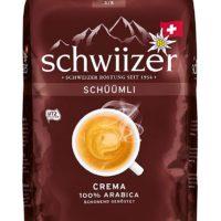 Schwiizer Schüümli Crema: Edle Mischung aus hochwertigen Arabicabohnen. Eine ausgewogene, würzig-beerige Aroma und eine feine, köstliche Crema zeichnen diesen Kaffee aus Umweltfreundlich: Unserer Bohnenkaffee ist UTZ-zertifiziert. Wir setzten uns für eine verantwortungsbewusste, umweltfreundliche Kaffeeproduktion ein Dein Kaffee im Detail: Röstkaffee in ganzen Bohnen - Verpackung 1 kg - Intensität 3 von 5 - 100 Prozent Arabica - Empfohlene Tassengrösse: 120 ml Lungo