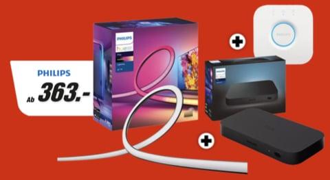 PHILIPS Hue Play HDMI Sync Box + Gradient 65 Zoll + Hue Bridge